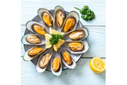 New Zealand Half Shell Mussels - 1Kg Pack