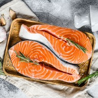 Fresh Norway Salmon Sushi Grade  / سمك السل...