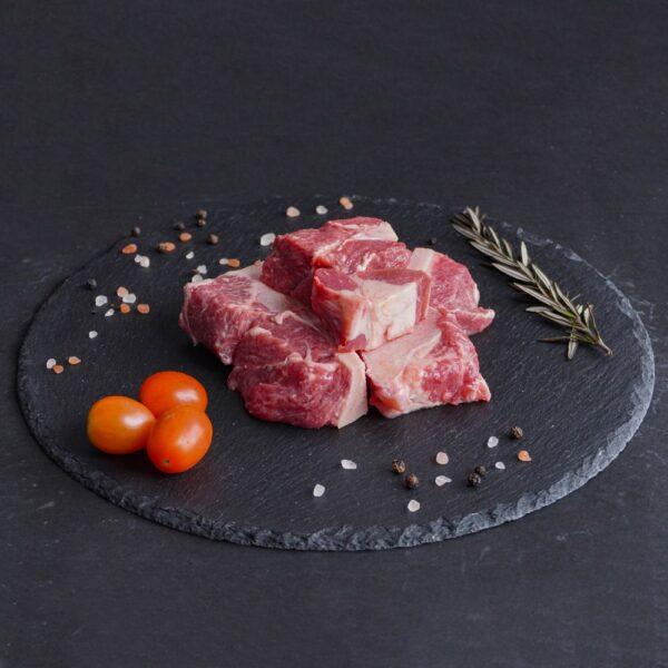 Fresh Premium Indian Beef Cubes With Bone