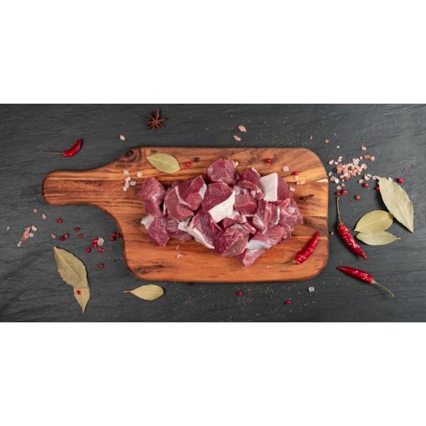 Fresh Premium Indian Mutton Cubes Boneless