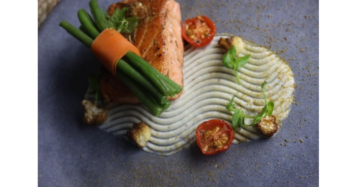 Pan-Seared Salmon With Cauliflower Puree
